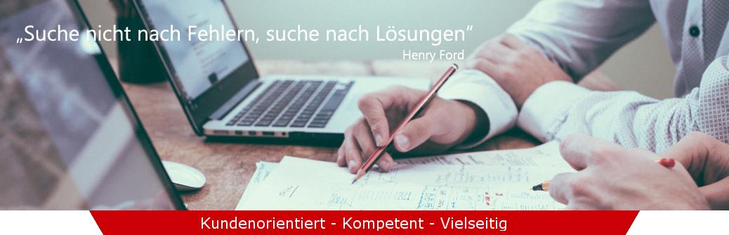 Suche nicht nach Fehlern suche nach Lösungen Henry Ford